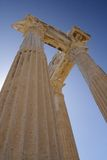Ruínas do templo de Athena em Turquia lateral na costa Fotos de Stock Royalty Free