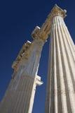 Ruínas do templo de Athena em Turquia lateral na costa Foto de Stock Royalty Free
