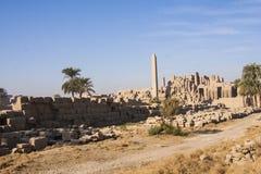 Ruínas do templo de Karnak imagem de stock