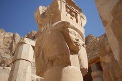Ruínas do templo de luxor Fotografia de Stock