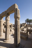 Ruínas do templo do karnak Imagens de Stock
