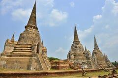Ruínas do templo, Ayutthaya imagem de stock