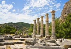 Ruínas do templo romano Fotografia de Stock