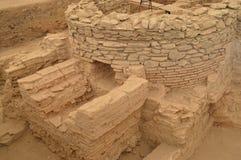 Ruínas dos banhos romanos antigos Fotos de Stock