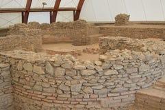 Ruínas dos banhos romanos antigos Foto de Stock Royalty Free
