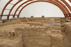 Ruínas dos banhos romanos antigos Foto de Stock