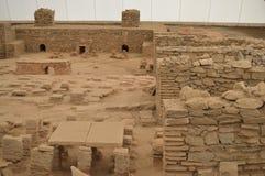 Ruínas dos banhos romanos antigos Fotografia de Stock