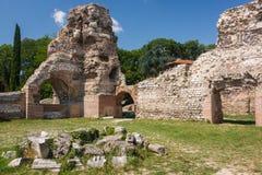 Ruínas dos banhos romanos em Varna Fotografia de Stock