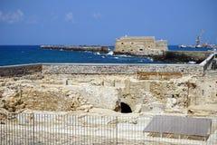 Ruínas e fortaleza Foto de Stock Royalty Free