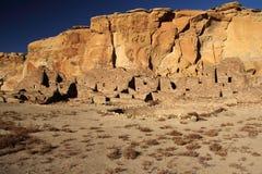 Ruínas e Kiva do povoado indígeno Imagem de Stock Royalty Free