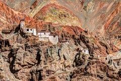 Ruínas e monastério de Basgo, Leh, Ladakh, Jammu e Caxemira, Índia Fotos de Stock Royalty Free
