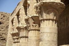 Ruínas egípcias do templo Fotos de Stock Royalty Free