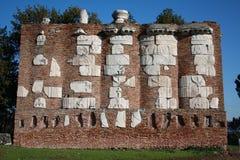 Ruínas em Appia Antica em Roma Foto de Stock