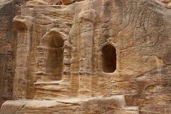 Ruínas em Bab como-Siq, PETRA Fotos de Stock Royalty Free
