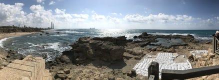 Ruínas em Caesarea, Israel Fotografia de Stock