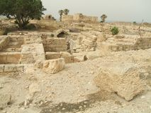 Ruínas em Caesarea, Israel Imagens de Stock