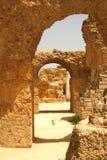 Ruínas em Carthage imagem de stock