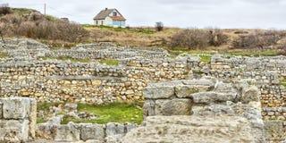 Ruínas em Chersonese Taurian Imagem de Stock Royalty Free