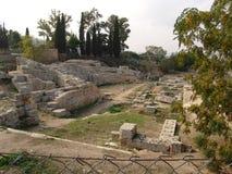 Ruínas em Corinth antigo, Grécia fotos de stock