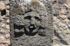 Ruínas em Pompeii após o enterramento pelo vulcão em 79AD em Itália, Europa fotografia de stock