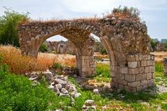 Ruínas em Ramle Israel fotografia de stock