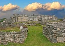 Ruínas em Tulum, México Fotografia de Stock