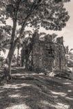 Ruínas espanholas da igreja, Mindanao Filipinas foto de stock