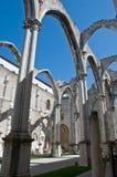 Ruínas góticos (Igreja faz Carmo) Foto de Stock Royalty Free