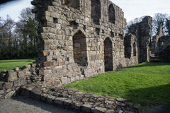 Ruínas históricas da abadia de Basingwerk no Greenfield, perto de Holywell Gales norte Foto de Stock Royalty Free