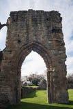 Ruínas históricas da abadia de Basingwerk no Greenfield, perto de Holywell Gales norte Imagens de Stock