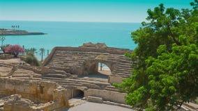 Ruínas históricas de Tarragona, Costa Daurada na Espanha vídeos de arquivo