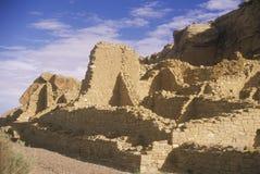 Ruínas indianas da garganta de Chaco, nanômetro, cerca de 1060, o centro da civilização indiana, nanômetro foto de stock royalty free
