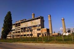 Ruínas industriais, cobine de Oltenita Fotografia de Stock