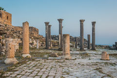 Ruínas Jordão dos romanos do gadara de Umm Qais Fotos de Stock Royalty Free