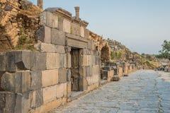 Ruínas Jordão dos romanos do gadara de Umm Qais Fotografia de Stock Royalty Free