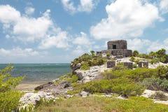 Ruínas maias antigas em Tulum, México Fotos de Stock Royalty Free