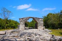Ruínas maias de Cozumel fotografia de stock