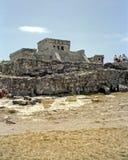 Ruínas maias do templo fotos de stock royalty free