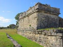 Ruínas maias em Tulum Fotografia de Stock