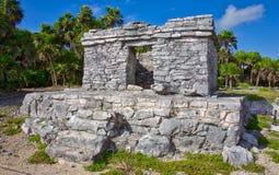 Ruínas maias em Tulum imagens de stock royalty free