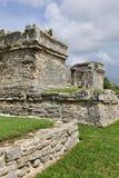Ruínas maias em Tulum, México fotografia de stock royalty free