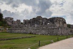 Ruínas maias em Tulum México Imagem de Stock Royalty Free