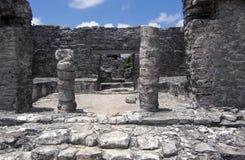 Ruínas maias em Tulum México Fotos de Stock Royalty Free