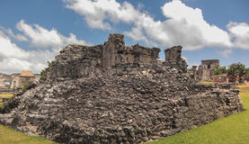 Ruínas maias em Tulum México Fotografia de Stock