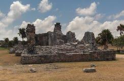Ruínas maias em Tulum México Imagens de Stock Royalty Free