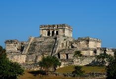 Ruínas maias, Tulum, México Imagem de Stock Royalty Free