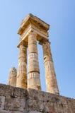 Ruínas majestosas de Apollo no Rodes Imagem de Stock Royalty Free