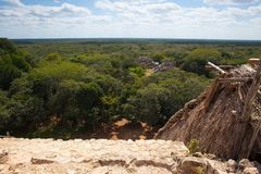 Ruínas majestosas em Ek Balam ¡ N de YucatÃ, México foto de stock