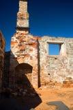 Ruínas medievais do castelo foto de stock