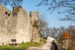 Ruínas medievais do castelo na cidade de Heppenheim Fotografia de Stock Royalty Free